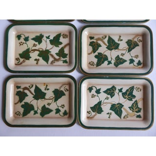 1950s Small Vintage Trays Ivy and Gold - Set of 8 Preview