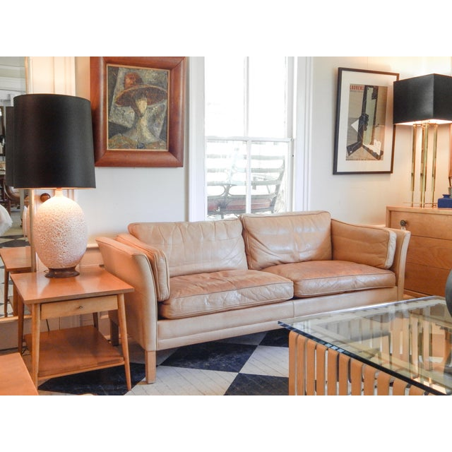Tan Mid-Century Danish Sofa For Sale - Image 8 of 8
