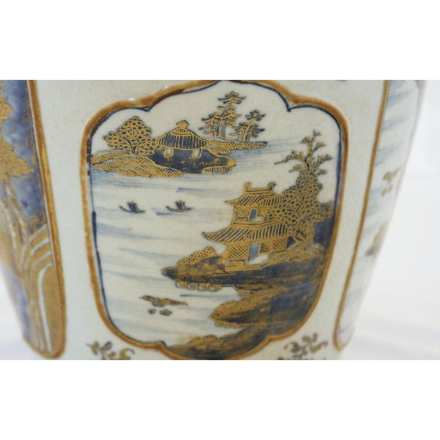 18th Century Chinese Qing Dynasty Covered Jars - a Pair For Sale - Image 4 of 9