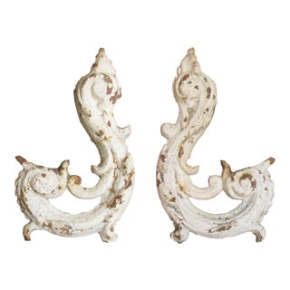 19thC French Iron Elements - a Pair For Sale