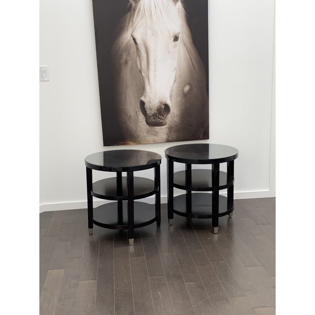 Ebony Side Tables From Gumps - a Pair For Sale - Image 8 of 9