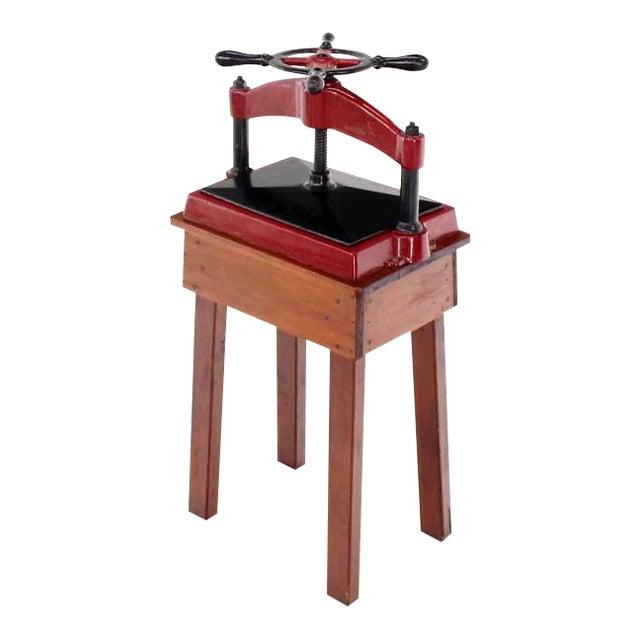 Heavy Antique Cast Iron Book Press For Sale