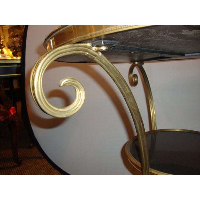 Bronze & Marble Two Tier Gueridon Side Table - Image 8 of 9