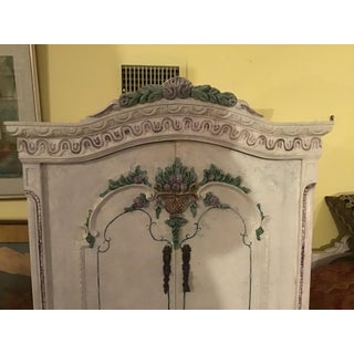 19th/20th Century French Louis XVI/Swedish Gustavian Style 4-Drawers Painted Armoire Preview