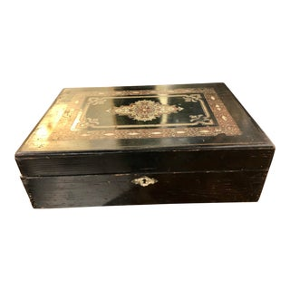 19th Century Civil War Era American Writing Box With Two Inkwells For Sale