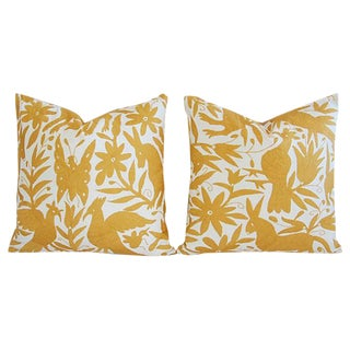 Custom Hand Embroidered Otomi Pillows - Pair