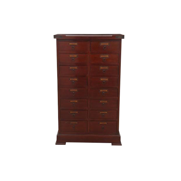 apothecary cherry chest of drawers chairish 87908