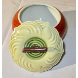 Japanese Porcelain Persimmon Tea Caddy or Sugar Pot. Preview