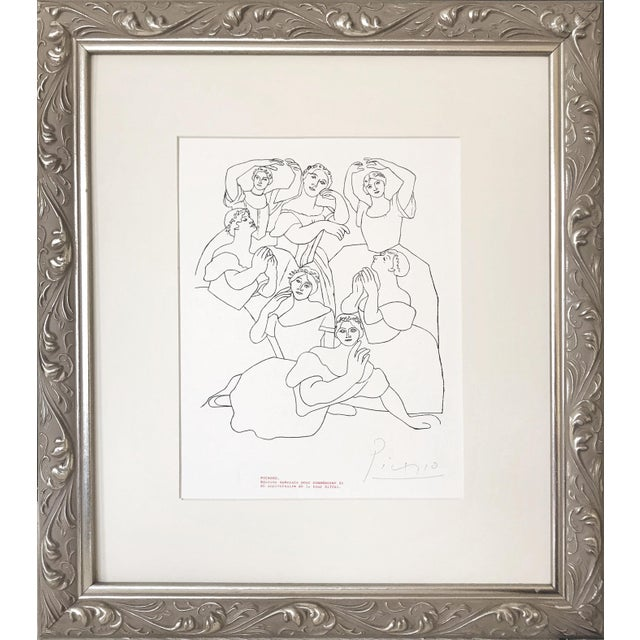 """Picasso Pencil Signed Edition Lithograph """"Seven Ballerinas"""" 1969 For Sale In New York - Image 6 of 6"""