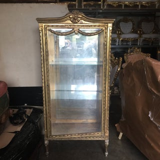 Gilded Antique Glass Vitrine Preview