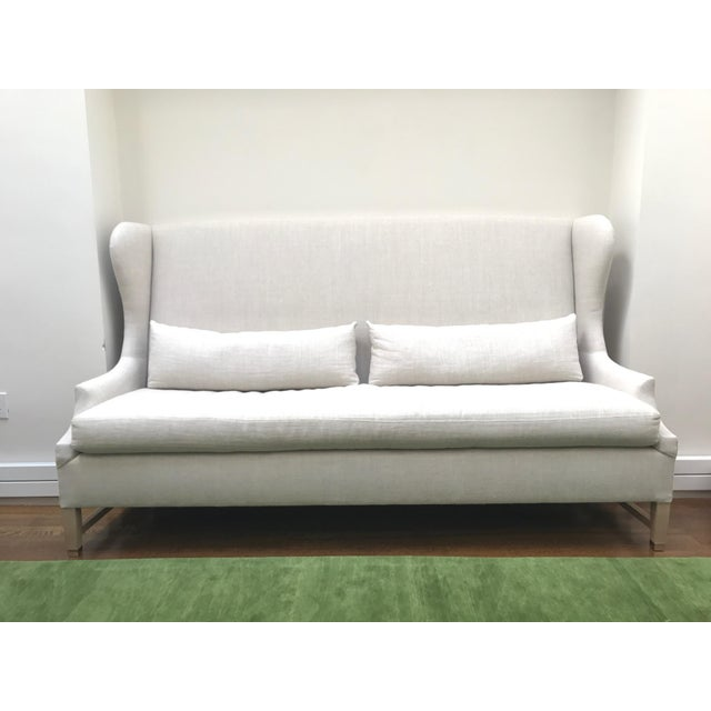 Verellen High Back Belgium Linen Sofa - Image 2 of 3