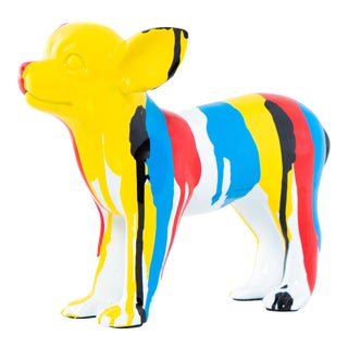 """Interior Illusions Plus Standing Chihuahua Splatter Art Dog - 8.5"""" long For Sale"""