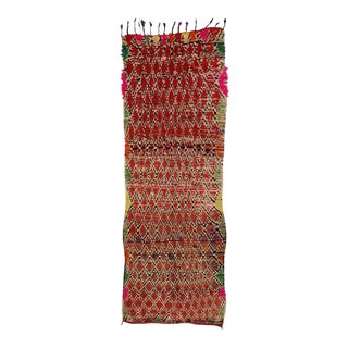 Boho Chic Vintage Berber Moroccan Runner with Modern Tribal Style For Sale
