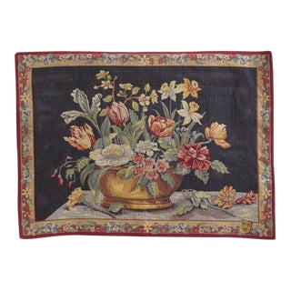 French Tapestry Wall Art on Rod For Sale