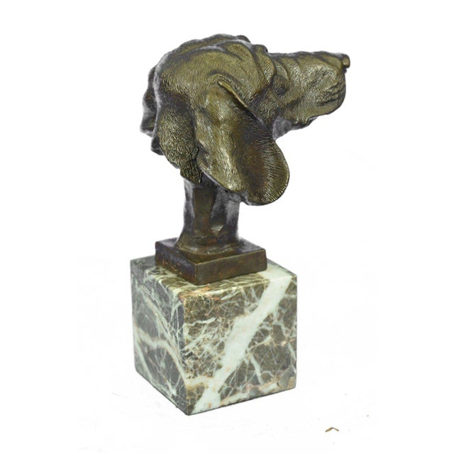 Art Nouveau Dachshund Bust Bronze Sculpture For Sale - Image 3 of 10