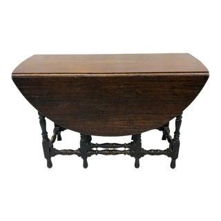 Antique Drop Leaf Gateleg Table For Sale