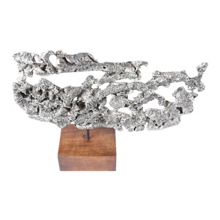 SPILL-CAST ALUMINUM TABLE SCULPTURE For Sale