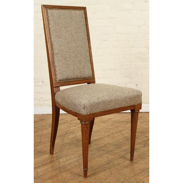 Art Deco Mid 20th Century Jean Michel Frank Dining Chairs - a Pair For Sale - Image 3 of 6