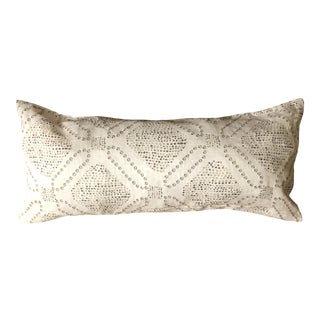 White and Gray Bolster For Sale