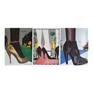 2006 Lanvin, Jimmy Choo, A. McQueen Shoe Advertisement Prints-Set of 3 For Sale