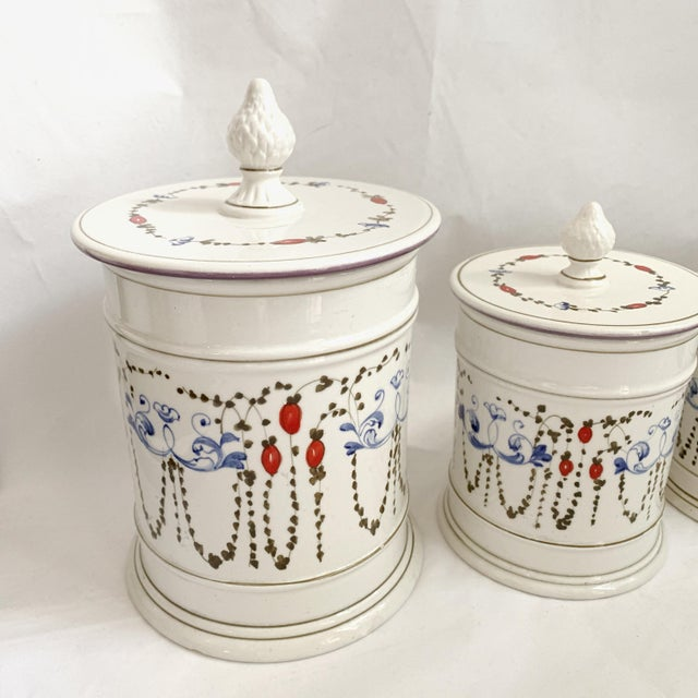 Antique Italian Ceramic Kitchen Canister Sets - English Lessons