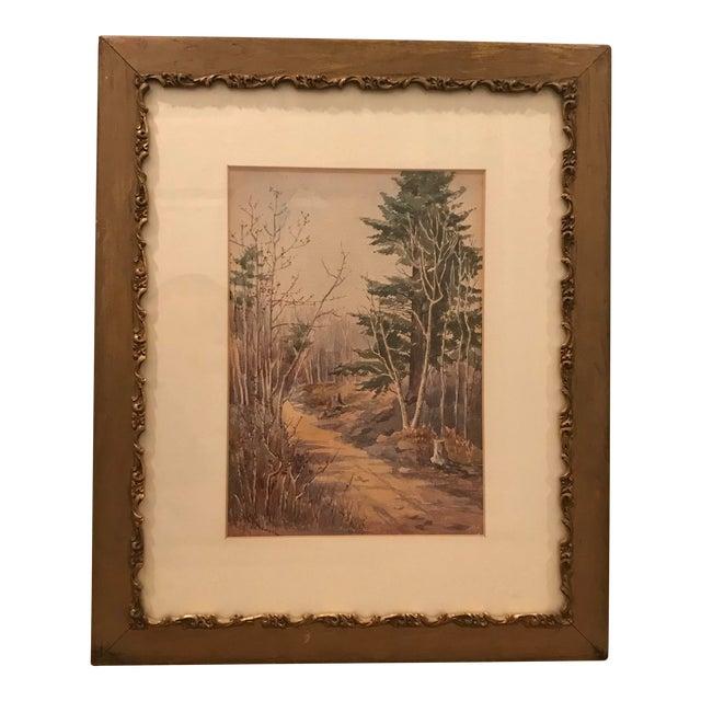 Original Vintage Landscape Painting Signed c.a. Howard For Sale