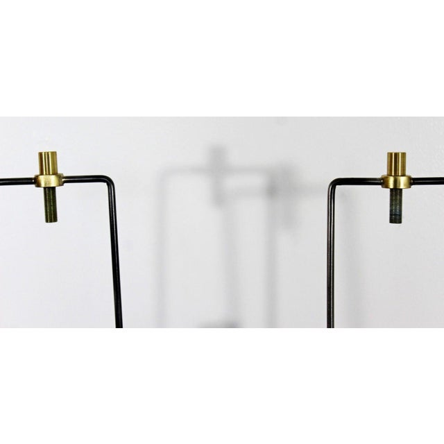 Metal 1970s Mid Century Modern Brutalist Nickel Table Lamps Richard Barr for Laurel - a Pair For Sale - Image 7 of 9