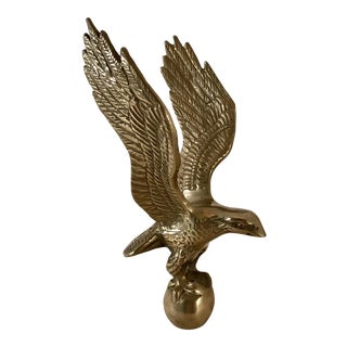 Vintage Solid Brass Eagle on a Ball