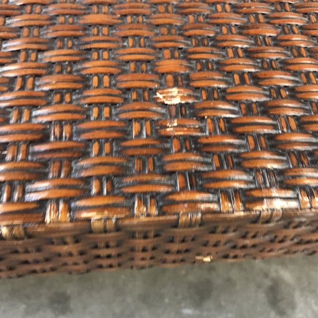 Vintage Mitchell Gold + Bob Williams Wicker Coffee Table For Sale In Raleigh - Image 6 of 8
