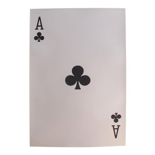 1967 Original Vintage Playing Card Poster - Ace of Clubs For Sale
