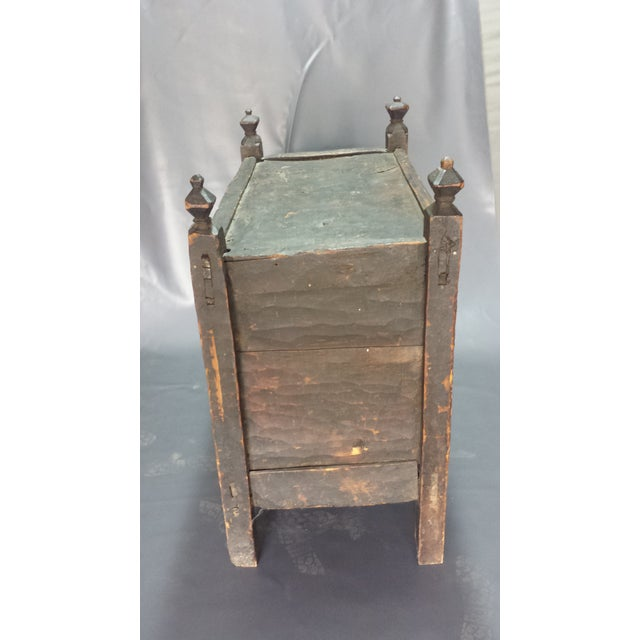 Afghanistan Dowry Dark Ebony Caved Wedding Chest For Sale - Image 5 of 10