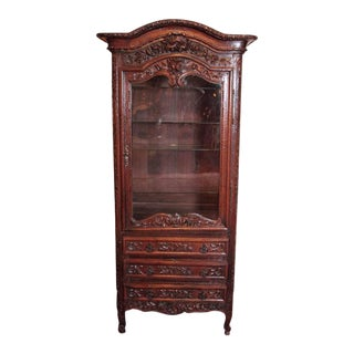 18th Century French Louis XV Carved Display Vitrine For Sale
