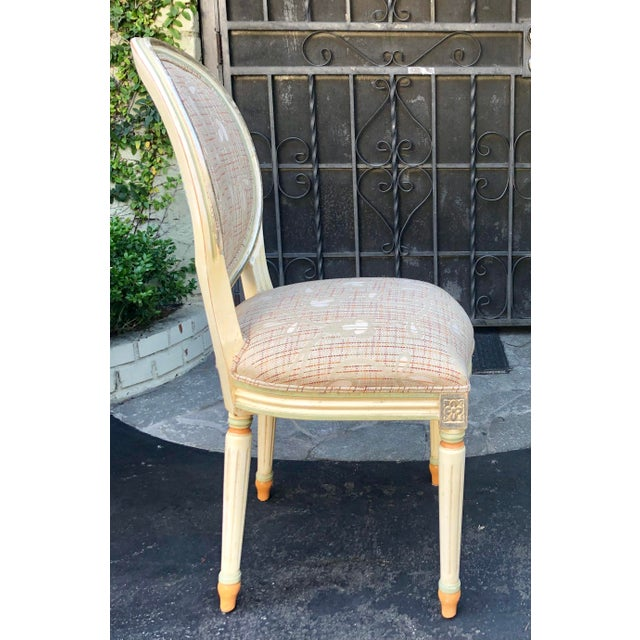 Wood Set of 6 French Louis XVI Balloon Back Dining Chairs For Sale - Image 7 of 10