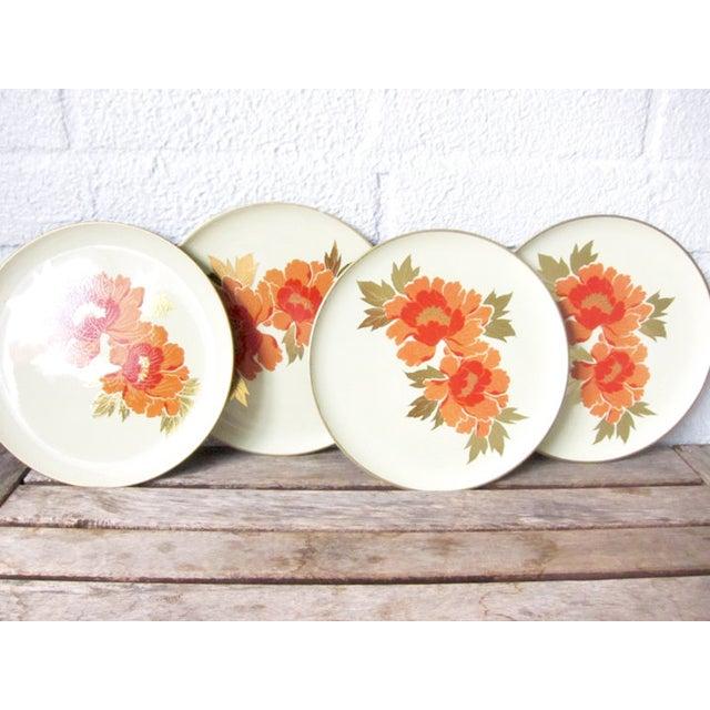 Vintage Otagiri Floral Plates- Set of 4 - Image 5 of 6
