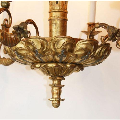 Italian 19th Century Italian Giltwood Chandelier For Sale - Image 3 of 6