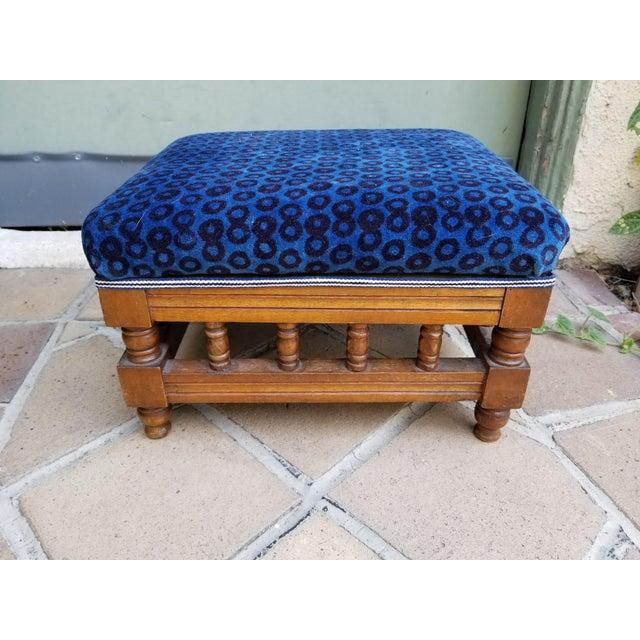 Antique Leopard Velvet Footstool For Sale In Los Angeles - Image 6 of 6