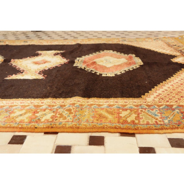 """Islamic AIT OUAGHRDA Vintage Moroccan Rug, 5'5"""" x 7'10"""" feet / 165 x 240 cm For Sale - Image 3 of 6"""