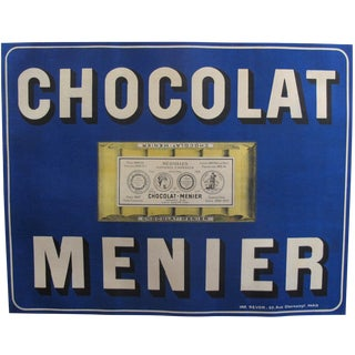Original 1900 French Chocolate Menier Kitchen Poster For Sale