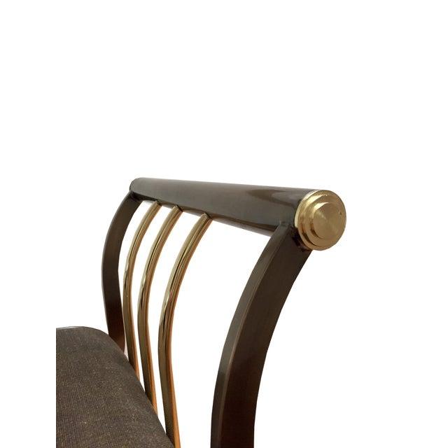 Dia Brass & Bronze Mohair Bench Design Institute - Image 4 of 5