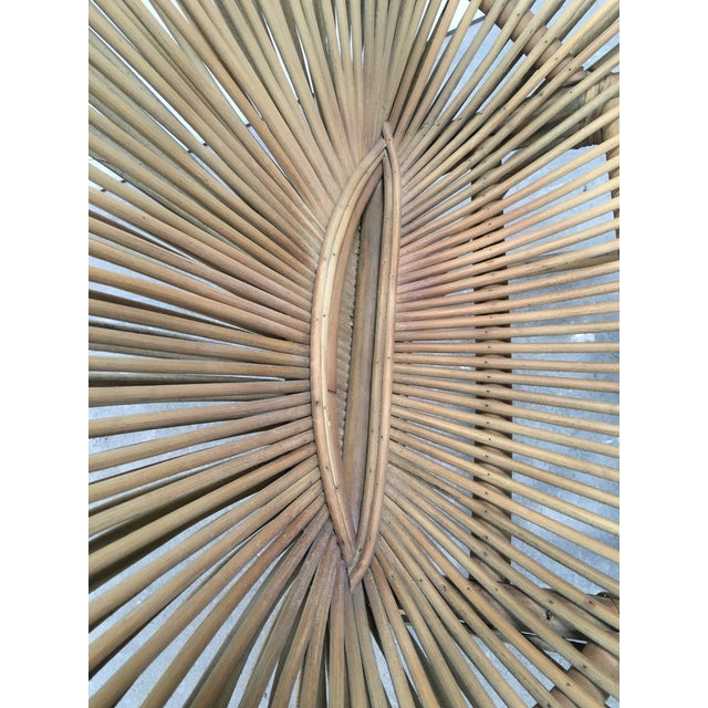 Mid-Century Modern Rattan Circle Chair For Sale In Los Angeles - Image 6 of 7