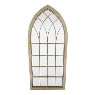 Tall Vintage Iron Arched Mirror For Sale