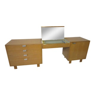 George Nelson for Herman Miller Oak 3 Pc. Vanity Chest Set For Sale