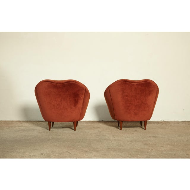 Pair of Federico Munari Lounge Chairs Italy, 1960s For Sale - Image 6 of 8