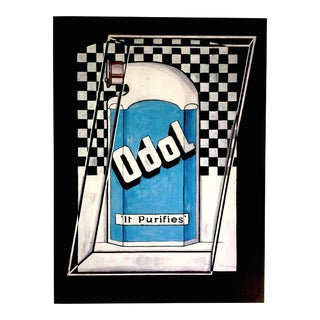 "Stuart Davis Rare Vintage 1993 Collector's Pop Art Lithograph Print "" Odol "" 1924 For Sale"
