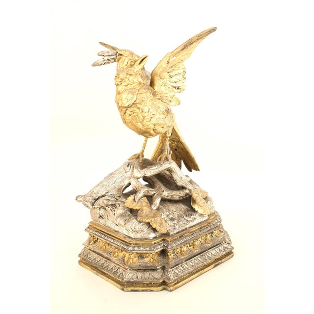 Pair of French Victorian Silver and Gilt Bookends For Sale - Image 10 of 12