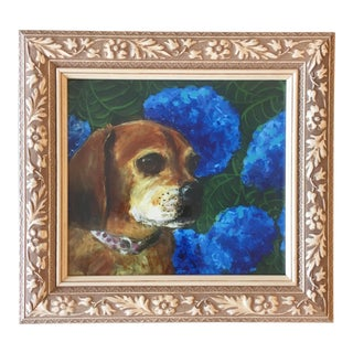 Puggle Dog Print by Judy Henn For Sale