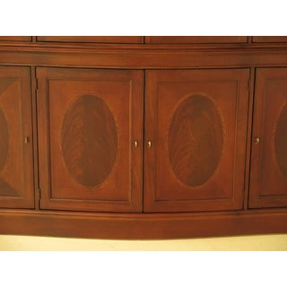 Lexington Palmer 4 Door Mahogany Breakfront W. Curved Glass Preview