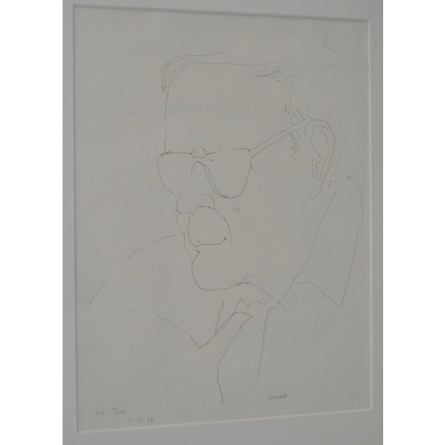 Pen & Ink Portrait by Ruth Asawa, 1978 - Image 3 of 6