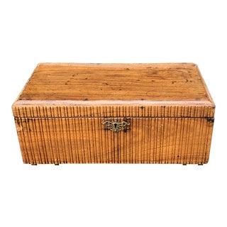Unusual Antique 19c Flemish Box W Rosewood Interior For Sale