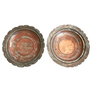Egyptian Copper Bowls - a Pair For Sale